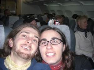 im Flieger nach Lima