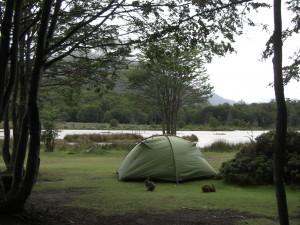 unser Zeltplatz am See