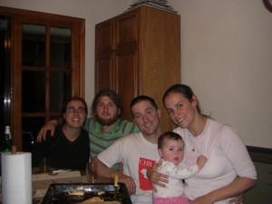 bei Martin zu HAuse mit seiner Familie