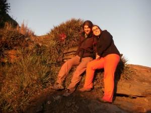 geniessen die wunerschoenen Farben bei Sonnenuntergang