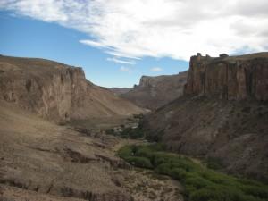 der Canyon in dem das Weltkulturerbe zu betrachten ist