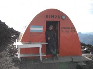 das Refugio RIM auf 2350 hm
