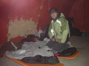 unser Bettenlager im Refugio