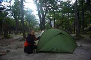 Campamento DeAgostini (Cerro Torre Basecamp) - Ist das Zelt wohl sturm- und regenfest aufgebaut?