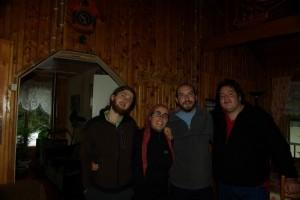 mit Hugo und Jorge in unserem Hostal