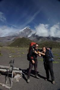 Dani und Martin mit Vorfreude auf das Besteigen des Vulkans
