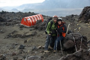 beim Abstieg kurz vor dem Refugio Rim