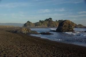 wunderschoene Pazifikbucht nahe Conception