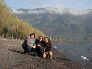 mit Hugo in Coñaripe beim Lago Calafquen