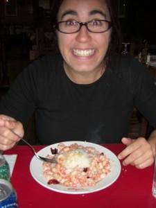 Dani freut sich auch auf ihre Shrimps