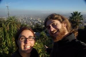 am Cerro Cristobal hat man einen gewaltigen Rundblick auf ganz Santiago