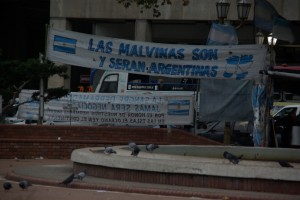 Der Kampf um die Falklandinseln - gegen England verloren - nagt immer noch am Nationalstolz