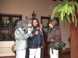 Alex beim Interview fuer den regionalen Fernsehsender