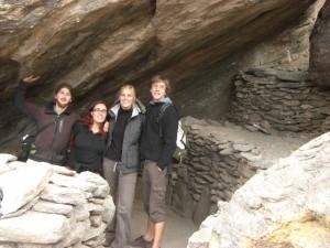 mit Alice und Nico bei den Quilmes Ruinen