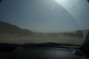immer wieder gewaltige Sandboeen kommen uns entgegen