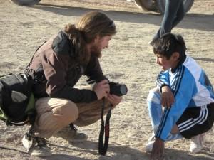 die Kinder sind von Alex, dem Jesus, immer ganz begeistert