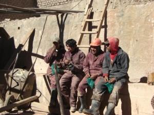 Cocablatter sind das (Ueber)Lebenselexier der Arbeiter - sie machen die harte Arbeit ertraeglich