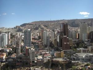 La Paz, die Grossstadt eingebettet in einem Canyon