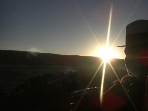 hey, und da sind sie, die ersten Sonnenstrahlen!