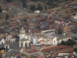 Kirche in Copacabana von oben aus gesehen