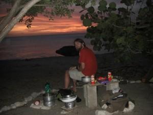 So viel romantische Abendstimmung geniessen wir auf unserer Terrasse