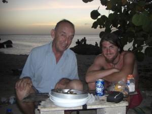 Willem, einer der uns besonders beneidet hat und gleich zum Essen blieb