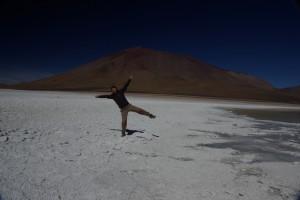 Alex am Rande der Laguna Blanca