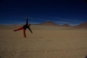 am Weg mit den Piedras de Dali im Hintergrund