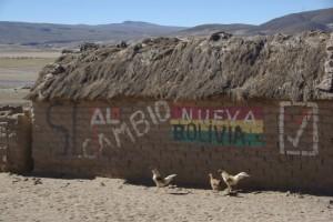 Wahlwerbung im Andenhochland