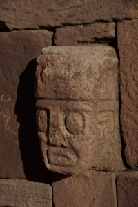 charakteristischer Kopf der Tempelverziehrung