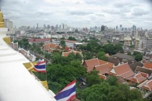 und vom Golden Mount aus, Bangkok von oben betrachtet