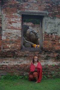 weiter gings dann noch zum Wat Phutthai Sawan mit seinem liegenden Buddha