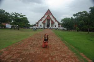 als erstes stand der Wihan Phra Mongkhon Bophit mit seinem Bronzebuddha auf dem Program