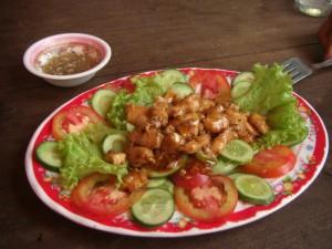 selbst zubereitet - Lok Lak Huenerfleisch