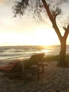 abends gabs zumeist wunderschoene Sonnenuntergaenge zu beobachten
