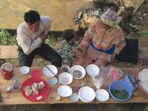 ...eine Familie bei der Mittagspause...