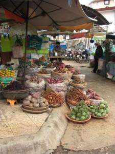 Wir sind eindeutig im fruchtbaren Hochland Vietnams - durch das europaaehnliche Klima waechst das selbe Gemuese - natuerlich von den Franzosen importiert...