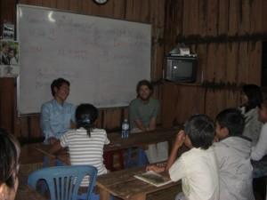 Alex mit dem Englischlehrer...