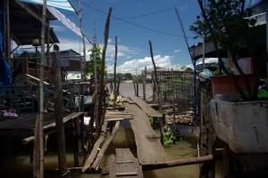 Manche Gassen in Chau Doc sind echt abenteuerlich :-)