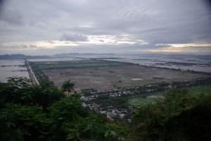 Die Reisfelder im Sonnenuntergang