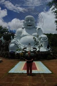 Wer strahlt mehr, der happy Buddha oder die happy Dani :-)?