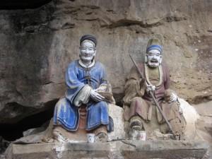 Lustige Figuren von heiligen Maennern und Eremiten