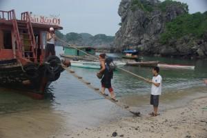 frueh morgens am naechsten Tag mussten wir unsere schoene Bucht schon wieder verlassen ;-(
