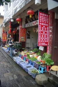 Suuper die chinesischen Restaurants - man zeigt auf das was man essen will, das wird dann frisch gekocht.