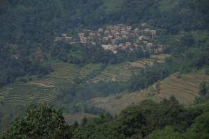 der Blick von unserer Terasse...sieht doch aus wie ein Dorf in der Toscana, oder?