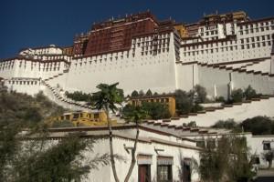 Die inneren Mauern des Potoala durften gewoehnliche Tibeter nur an speziellen Tagen betreten