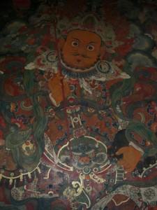 Ein Protektor am Eingang des Potoala - Protektoren sollen boese Geister vom betreten des Heiligtums abhalten