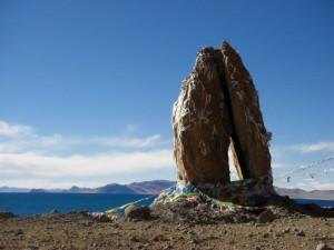 wunderbare Steinformationen sehen wir bei unserem Spaziergang - man versteht warum diese Formation verehrt wird (zum Gebet gefaltete Haende)...