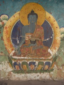 ..eine der unzaehligen Buddhabilder - wunderschoen ausgeschmueckte Kunstwerke