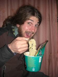 ...am Abend gibt es noch ein typisches chinesisches Abendessen - Instantnudeln - hmmmm :-)...